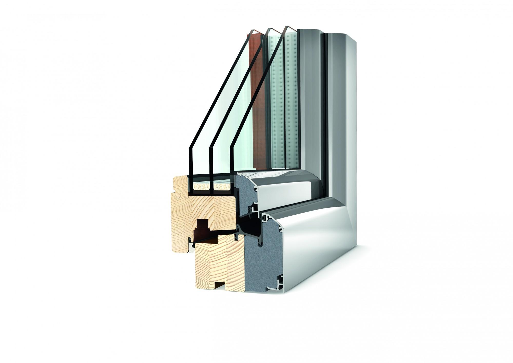 fen tre mixte bois aluminium triple vitrage afp 13. Black Bedroom Furniture Sets. Home Design Ideas